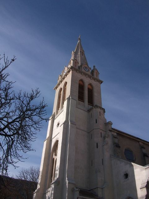 The church of Laragne...